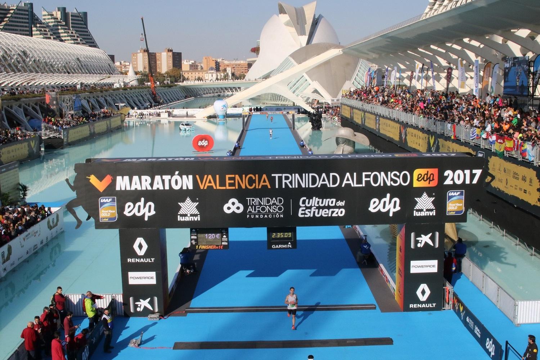 Maratona de Valência 2017 - Chegada à meta