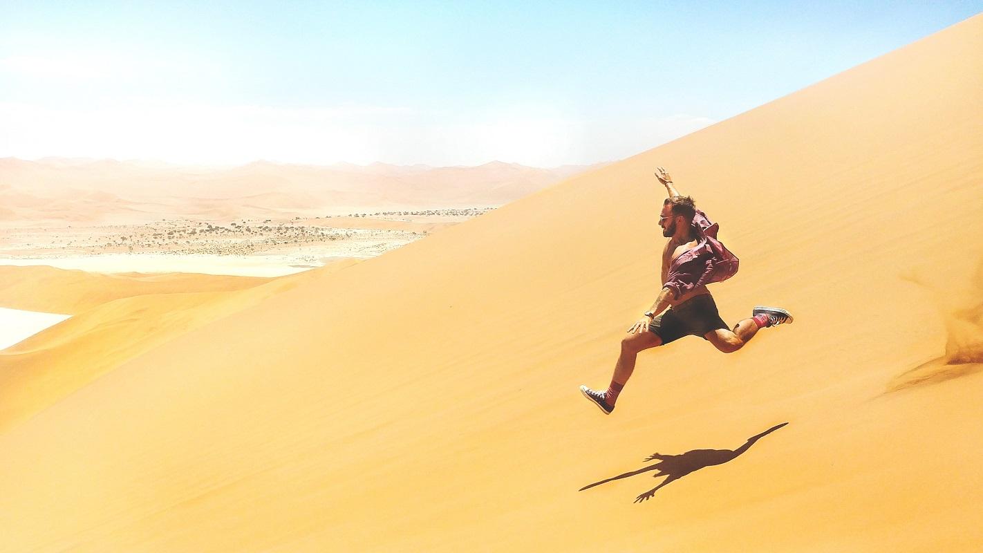 Correr com o calor do deserto