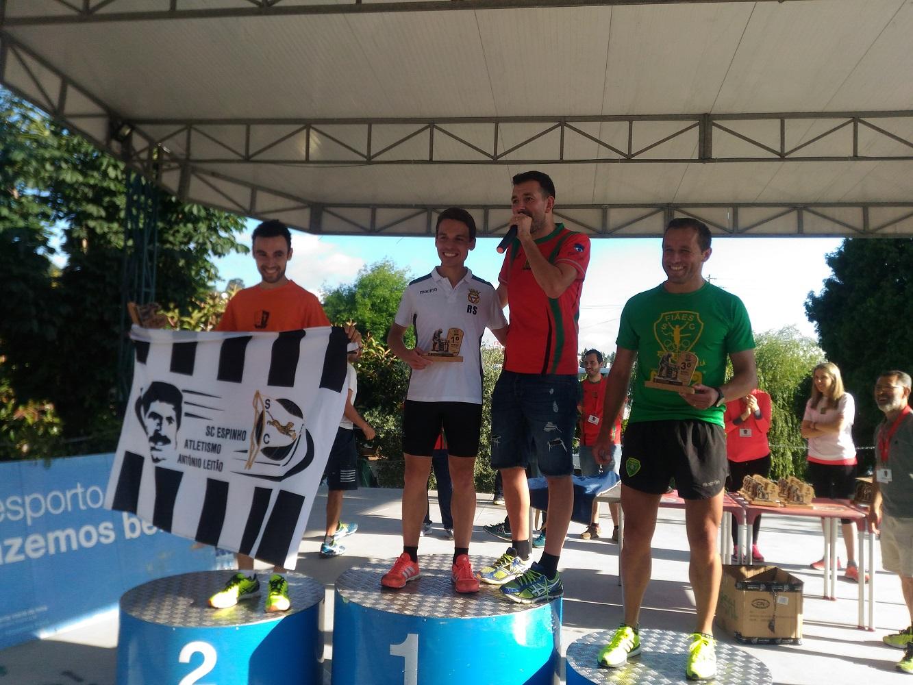 Pódio Vencedor 4º Grande Prémio Atletismo Santa Maria de Lamas 2018