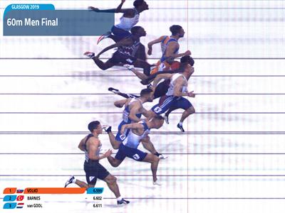 Campeonatos Europeus Atletismo Pista Coberta - Glasgow 2019 | Final Masculina 60 Metros Photofinish