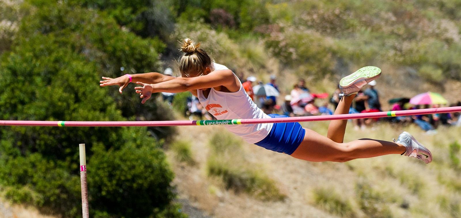 evolução da vara no salto com vara
